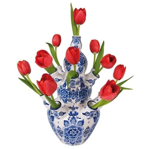 flat-flowers-raamsticker-delftsblauw-rode-tulpen