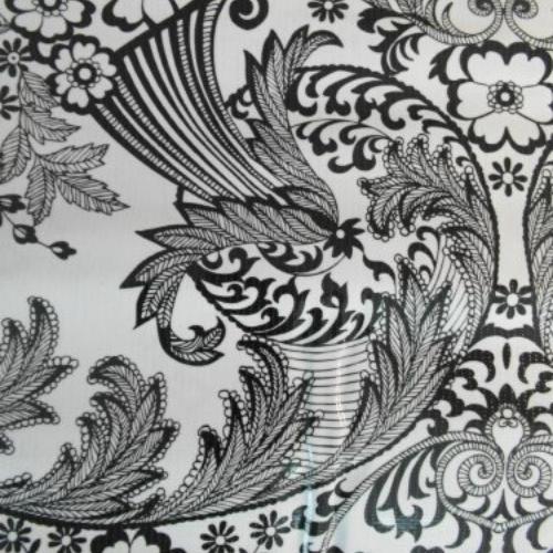 tafelkleed zwart wit 2
