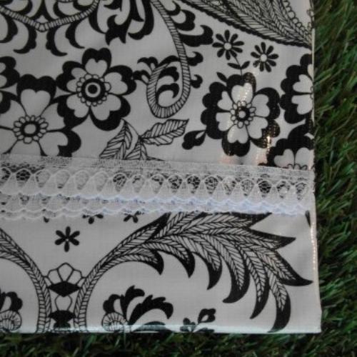 tafelkleed zwart wit 3